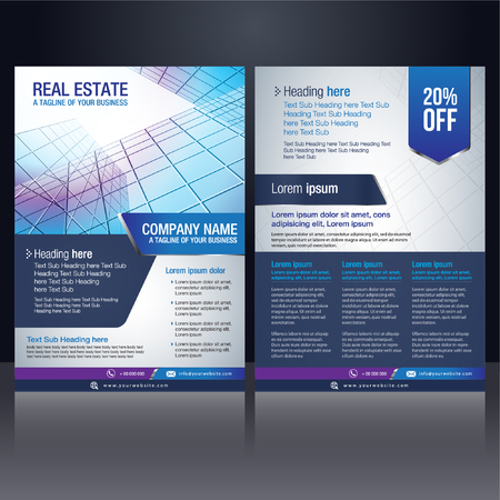 business brochure cover design layout template vector illustration