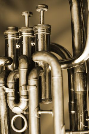 saxhorn: Valves of an old baritone horn