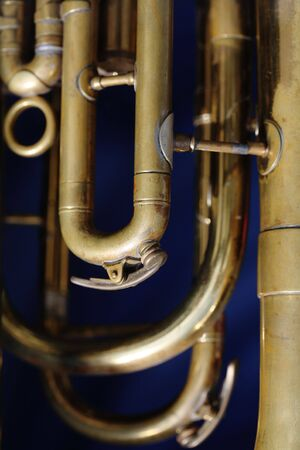 saxhorn: Detail of an old baritone horn