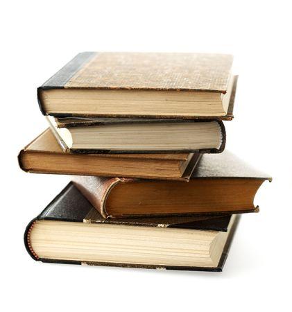 antics: Books stacked.