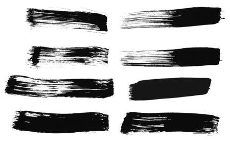 Brush strokes on white.