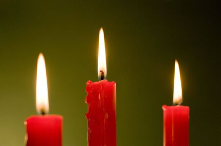 Three candles Stock Photo - 3420137