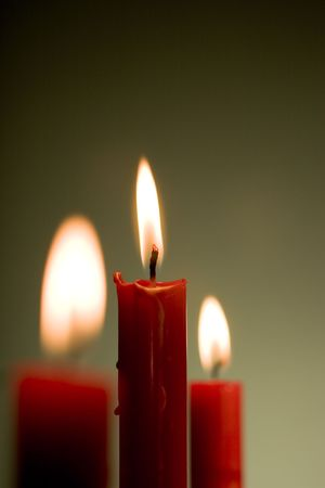 Three candles Stock Photo - 3420132