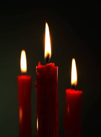 Three Candles Stock Photo - 3420123