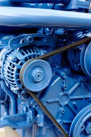 diesel engine: Brand new marine diesel engine from a boat.