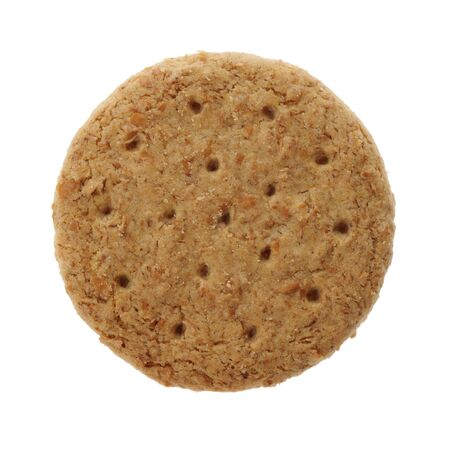 A Digestive biscuit isolated on white