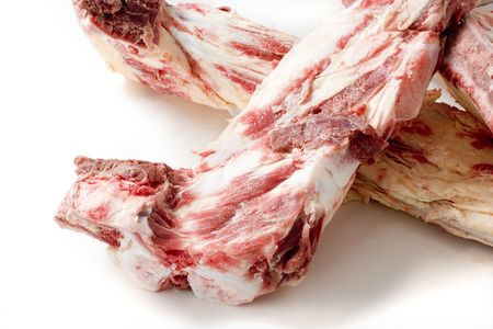 leftover: Butchers leftover gristle bones, suitable for dog food Stock Photo