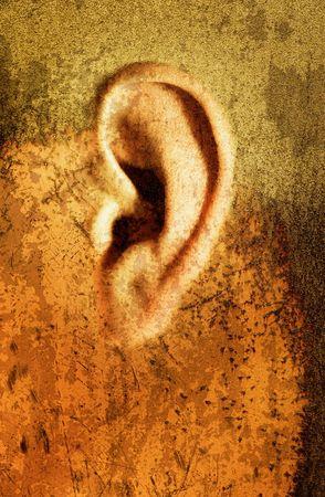 aural: Illustrative image manipulation of an ear.