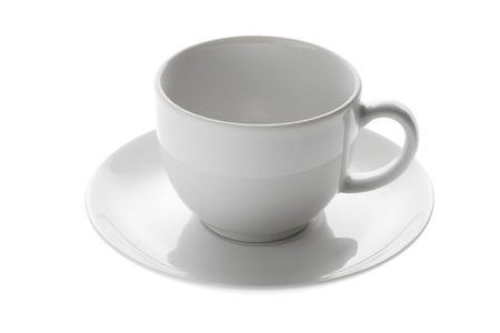 coffeecup: empty coffee cup on white