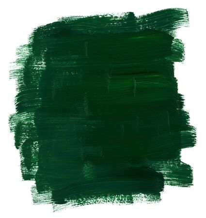 oilpaint: An area painted with green oil paints.