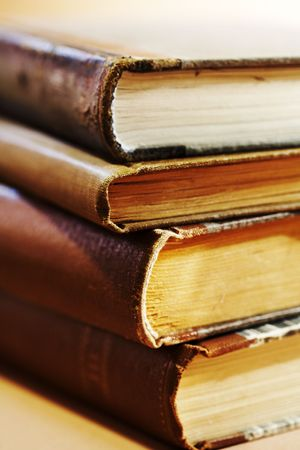 Stack of old books. Stock Photo - 3425358