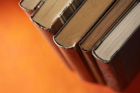 antics: Old Books Stock Photo