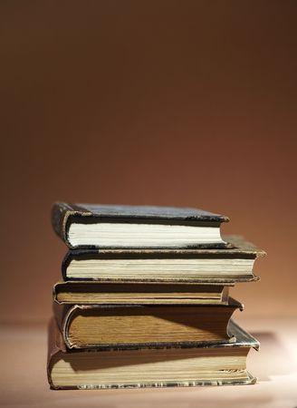 antics: Stack of old books.