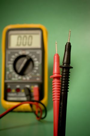 Digiital multimeter with probes Stock Photo - 3425318