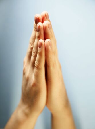plead: Hands Clasped in a prayer.