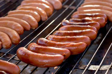 grilled sausages: Grilled sausages Stock Photo