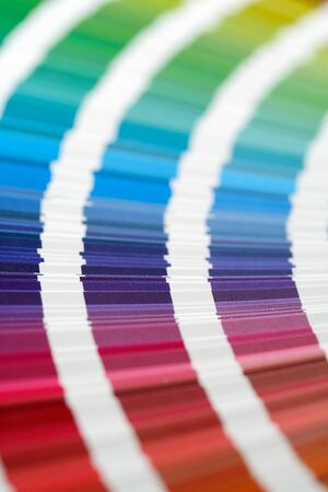 nuances: CMYK printing color swatches