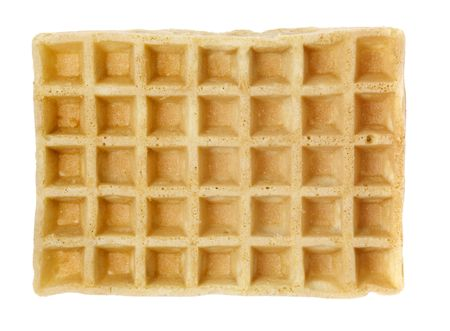 industrially: Industrially manufactured waffle isolated on white Stock Photo