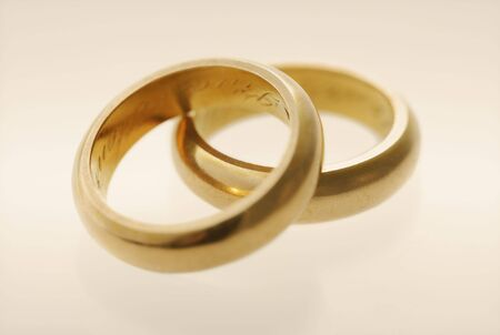 wedding rings: Old golden wedding rings from late 1800s