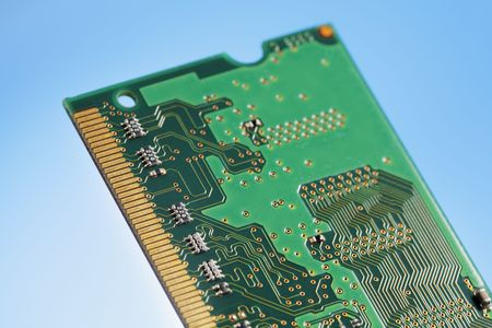 Backside of a SO-DIMM memory module circuit board Stock Photo - 3503471