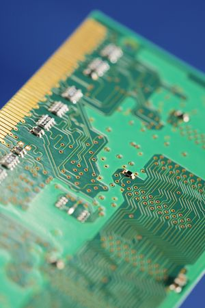 Backside of a digital circuit board Stock Photo - 3638782