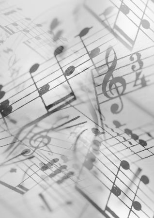 melodies: A Photocomposition of musical notation, suitable for background
