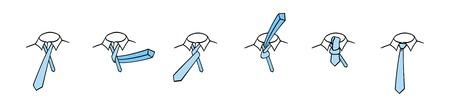 Four in hand necktie knot