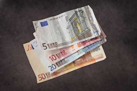 Hard earned money: wrinkled euro bills Stock Photo - 4247727