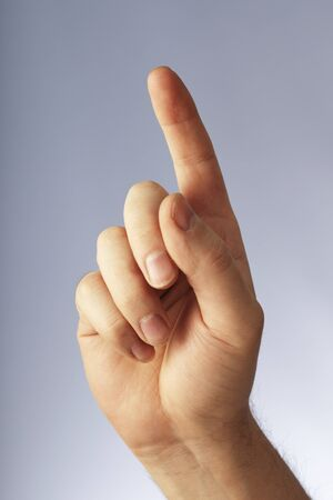 A Hand pointing with index finger Stock Photo - 4247695