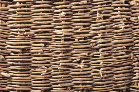 wickerwork: Wickerwork woven background texture of wood
