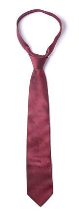 silk tie: Red silk necktie isolated on white
