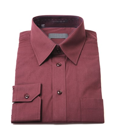 Dark red mens button-up shirt photo