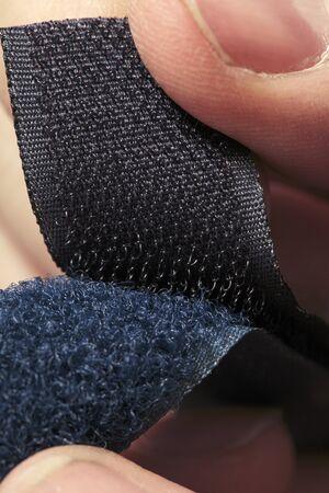 Hook-and-loop fastener aka velcro in closeup