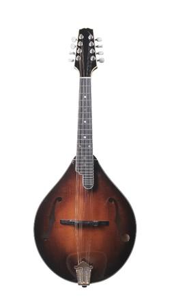mandolino: Mandolino strumento musicale stringa isolati su bianco Archivio Fotografico