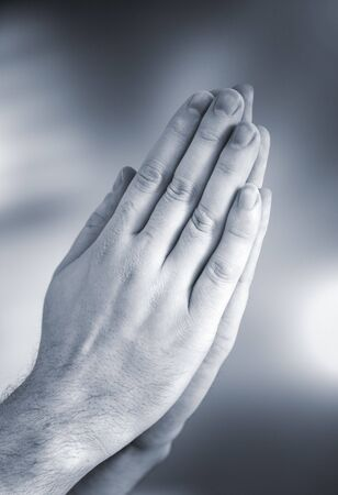 Hands clasped together for a prayer Stock Photo - 4766743