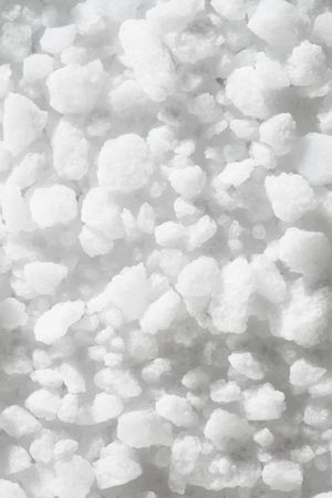 chrystals: Coarse salt suitable for grinder use in closeup Stock Photo