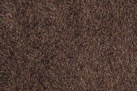 New brown fluffy rug background texture