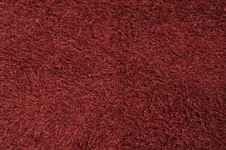 New red fluffy rug background texture Stock Photo - 5091303