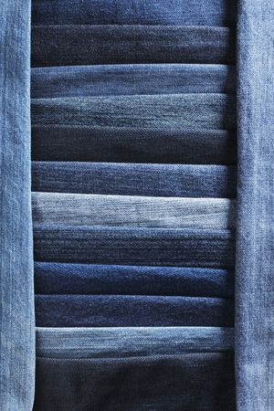 Fondo de tela de jeans de mezclilla hechas de diferentes telas azules  Foto de archivo - 5122984