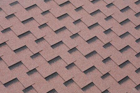 shingles: Minerales Roja se sintieron tejas para techos textura