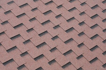 roof shingles: Red mineral felt roofing shingles texture