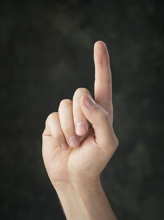 dedo indice: Mano hacia arriba con un dedo �ndice