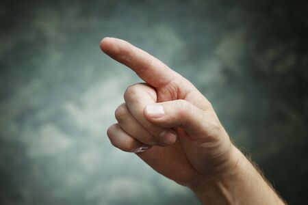 A man pointing with index finger Stock Photo - 5777417