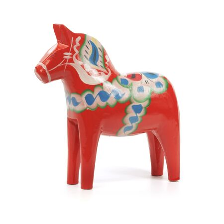 A Traditional Dalecarlian horse or Dala horse (Swedish: Dalahast) It has become a symbol of Dalarna as well as Sweden in general. The design of the horse has been around for centuries. photo
