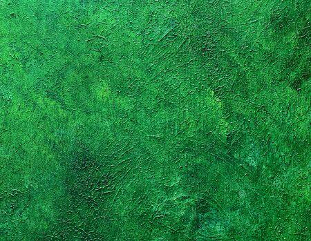 oil paints: Pinturas de aceite verdes lleno de baches sobre lienzo