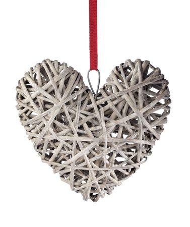 Hart gevormde decoratie van hout