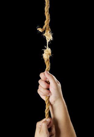 uncertain: Hombre de una cuerda de ruptura de escalada