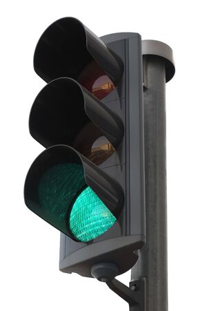 Traffic lights with the green light lit. photo