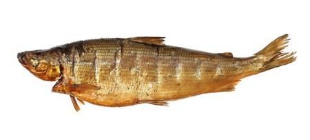 whitefish: Smoked whitefish isolated on white