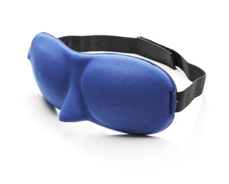 sleep mask: A Blue sleep mask blindfold made of neoprene